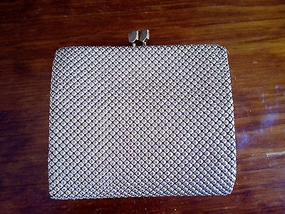 Vintage Glomesh White Tri-Fold Wallet & Coin Purse #1
