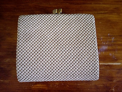 Vintage Glomesh White Tri-Fold Wallet & Coin Purse #2