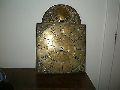 Antique Long Case Clock Brass Face
