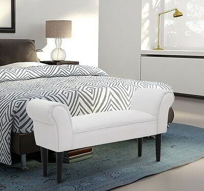 Awe Inspiring White Ottoman Bench Chaise Lounge Small Sofa Window Seat Andrewgaddart Wooden Chair Designs For Living Room Andrewgaddartcom