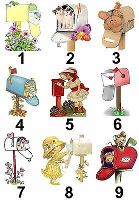 Post Mail Box Small or Large Sticky White Paper Stickers Labels