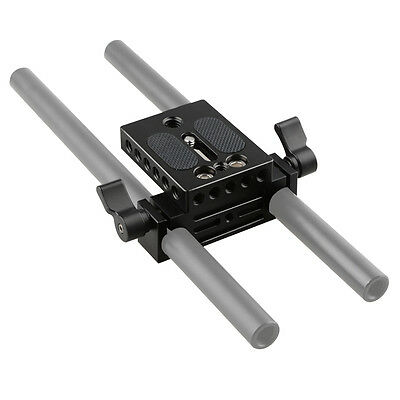CAMVATE Camera Baseplate With 15mm Railblock For DSLR Rig Rod Rail