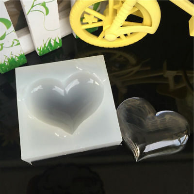 Silicone Heart Mold Resin Jewelry Making Mould Necklace Casting Craft DIY Tool