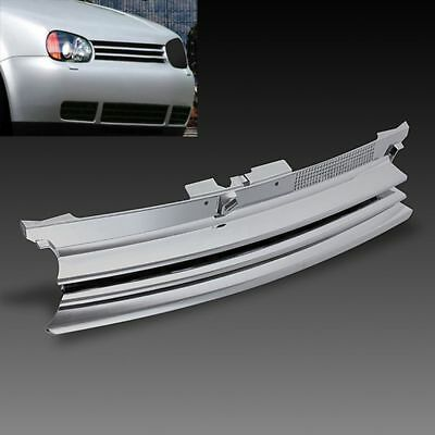 Chrome Badgeless Debadged Front Sports Grille Grill For VW GOLF MK4 1997-2004
