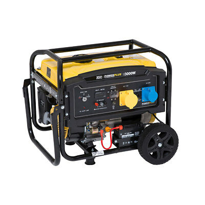 Powerplus 3000w 7HP 4KVA Electric Key Start Petrol Generator 110v 240v EBAY SALE