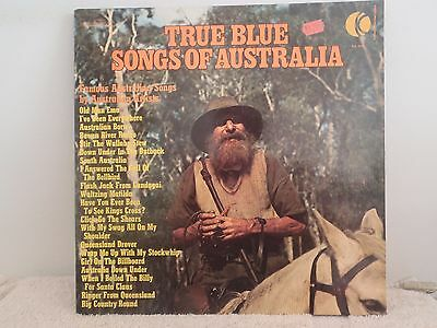 VARIOUS ARTISTS  - LP - TRUE BLUE SONGS OF AUSTRALIA (Gatefold)