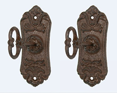 Skeleton Key Cast iron Coat Hook & Key Rack Set of 2
