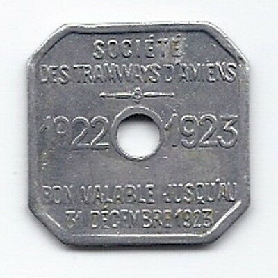 Amiens, France Tramway  Token     FRA  120 AA