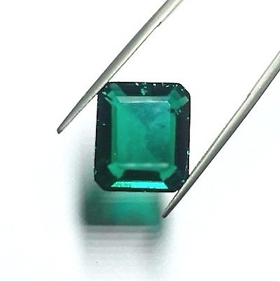 Hydrothermal Emerald Green with minor Inclusions Octagon Loose stone (4x2-18x13)