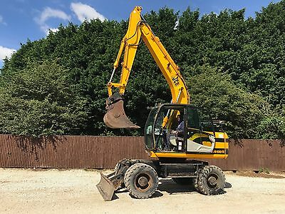 Jcb Js130 Wheeled Excavator With Blade ( Year 2003 )