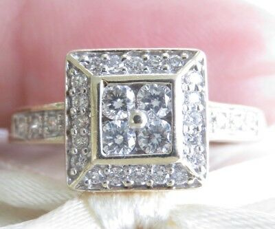 Genuine 0.50ct Diamond Dress Ring 9K Solid Yellow Gold Angus&Coote Jeweller