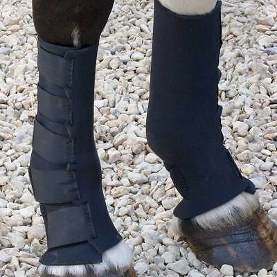 Shires Equestrian Neoprene Mud Socks For Horses & Ponies in Black