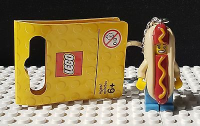 Hot Dog Suit Guy Official Lego Keyring Minifigure Series  - Brand New (853571)