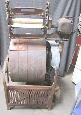Antique Sunbeam Copper Cast Iron Electric Laundry Washing Machine WILL SHIP
