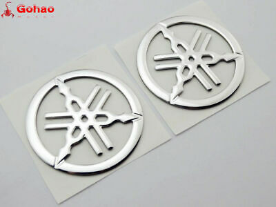 2X 50mm Tuning Fork Tank Fairing Emblem Decal Sticker For Yamaha 3D Racing Model