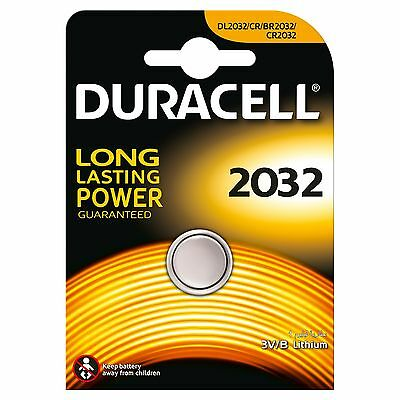2X Duracell CR2032 3V Lithium Coin Cell Battery 2032, DL2032, BR2032, EXP 2025