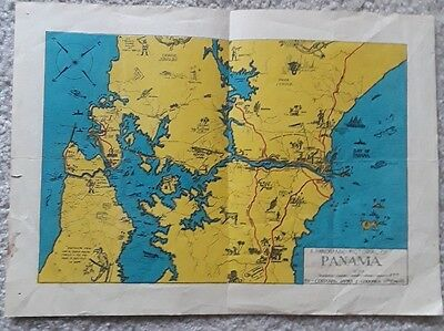 A Panoramic Pictorial of Panama map by Corporal in 11th Engineers