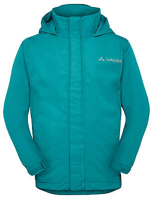 Vaude Kinder Regenjacke, Regen Jacke, Kids Escape Light in cyan  Gr: 122 / 128