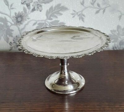 A Vintage Silver Plated Comport by Davis & Sons Glasgow