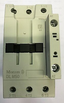 Moeller DILM50  3 Pole Contactor, 50 A, 22 kW, 110 V ac Coil (Original )