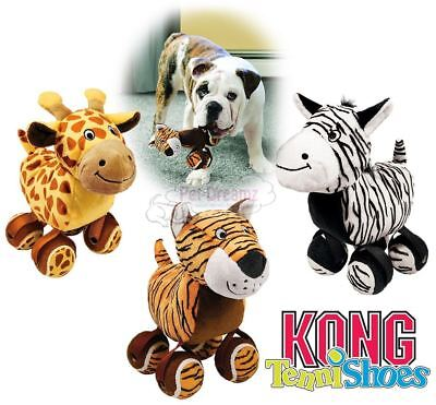 Kong TenniShoes - Soft Plush Squeaky Dog Puppy Toy - 4 Tennis Balls Attached