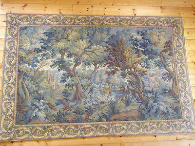 """Tapestry, Large French Woven Wall Hanging (76"""" x 51"""")"""