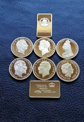 Commemorative Gold Plated Royalty Bullion Coins & Bars Set Highly Recommended