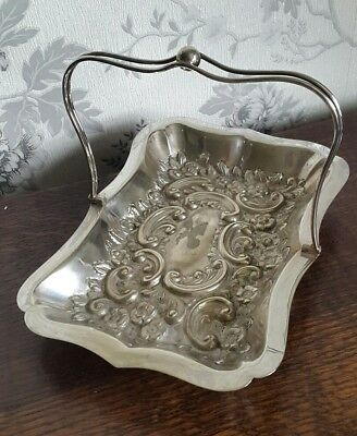 A Very Ornate Vintage Silver Plated Handled Bowl