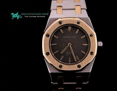 Audemars Piguet Royal Oak Stainless Steel and 18k Gold Early Vintage 1970's Rare