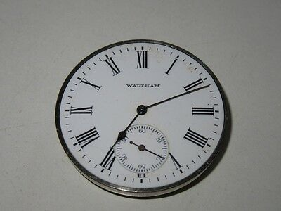 VINTAGE WALTHAM AWW & CO POCKET WATCH MOVEMENT 43mm 15 JEWEL FOR RESTORATION