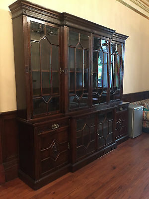 Magnificent Edwardian Large Dark Wood Book Case by Maple & Co London - AD