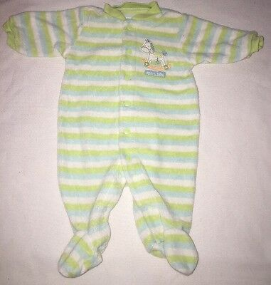 Unisex Carters NB Baby Pastel Snap Up 1 PC Sleeper Rocking Horse Striped Terry