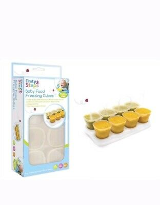 First Steps Baby Food Freezing Cubes Transparent