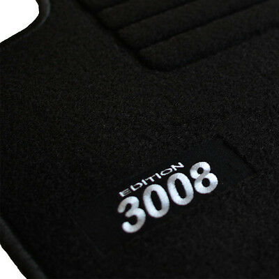 tapis sol moquette logo blanc sur mesure peugeot 3008 a. Black Bedroom Furniture Sets. Home Design Ideas