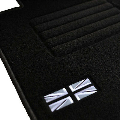 4 Tapis Sol Moquette Logo Flag Uk Specifique Mini 2006-2014 R56 Cooper & S & D