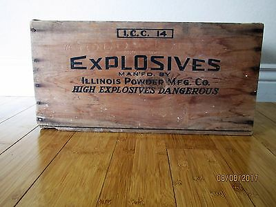 Antique Wood Dynamite Explosive Box Crate 50 lbs No. 5 Early 1900s