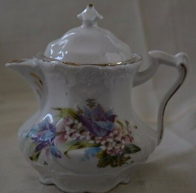 Vintage Small Porcelain Chocolate Pot Single Serving Teapot Looks Antique