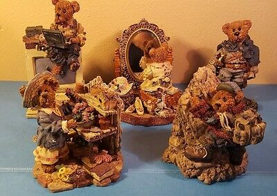Lot Of 5 Boyds Bears And Friends Resin Figurines