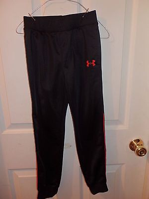 Under Armour Black Long Pants with Red Logo Size 7