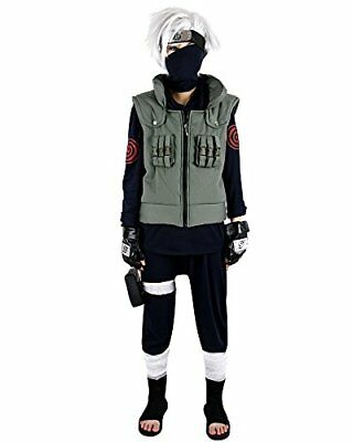 Miccostumes Men's Naruto Kakashi Hatake Cosplay Costume Extra Large Green and...