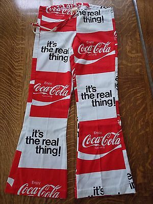 Bellbottom  COCA COLA  Beach Pants  Size: Small Cotton Linen