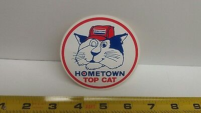Hometown Top Cat Vintage Sticker Automotive Transportation NHRA NASCAR