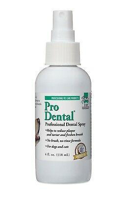 ProDental Dog Oral Health Dental Spray 4 oz Bottle Easy Use For Fresh Pet Breath