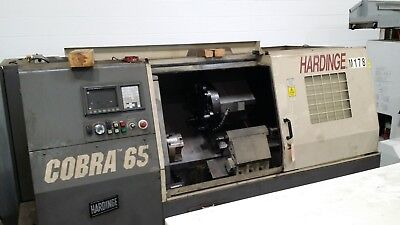 Used Hardinge Cobra 65 CNC Lathe Turning Center Tailstock Iemca VIP 70 Fanuc '98