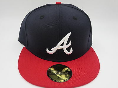 ATLANTA BRAVES 5950 New Era Fitted MLB Retro Throwback Baseball Hat ... 8497914977e