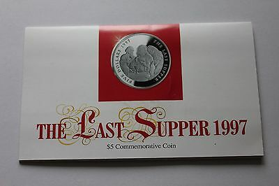 The Last Supper $5 Commemorative Coin & Folder  Marshall Islands