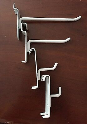 Assorted White Metal Grid Wall Hooks / for Wire Panel Retail Display-102 pieces!