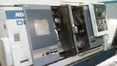 Used Mori Seiki DL-20 Twin Spindle Turning Center Lathe MF-D6 Control Holders 96