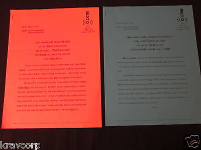 Paula Abdul—Two 1995 Press Releases