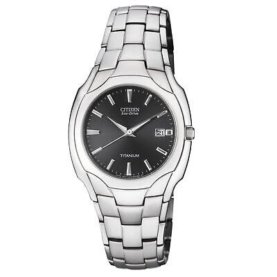 Citizen Eco-Drive Black Dial Titanium Men's Watch BM6560-54H